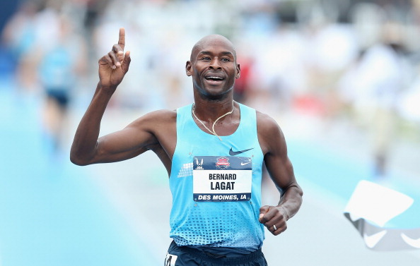 Bernard Lagat, pictured winning at the 2013 US Championships, is a master of the Masters, with M35 age group records in the 1500m, mile, 3,000m and 5,000m ©Getty Images