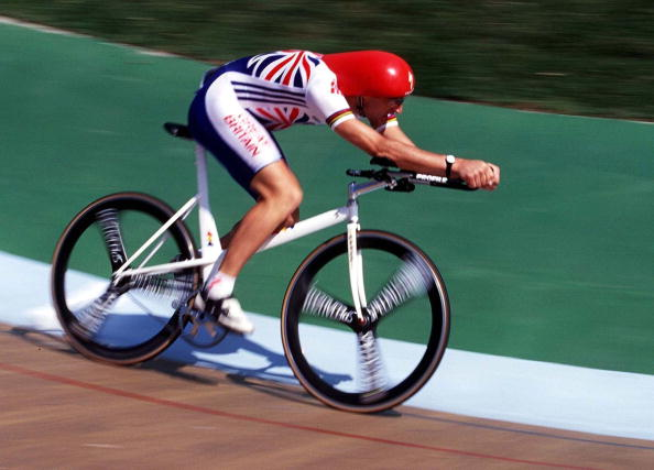 Cycling's glorious outsider, Graeme Obree, racing in the 4,000m pursuit for Britain at the Atlanta 1996 Games. He had two world hour records retrospectively annulled when the UCI changed their rules on allowable equipment ©Getty Images