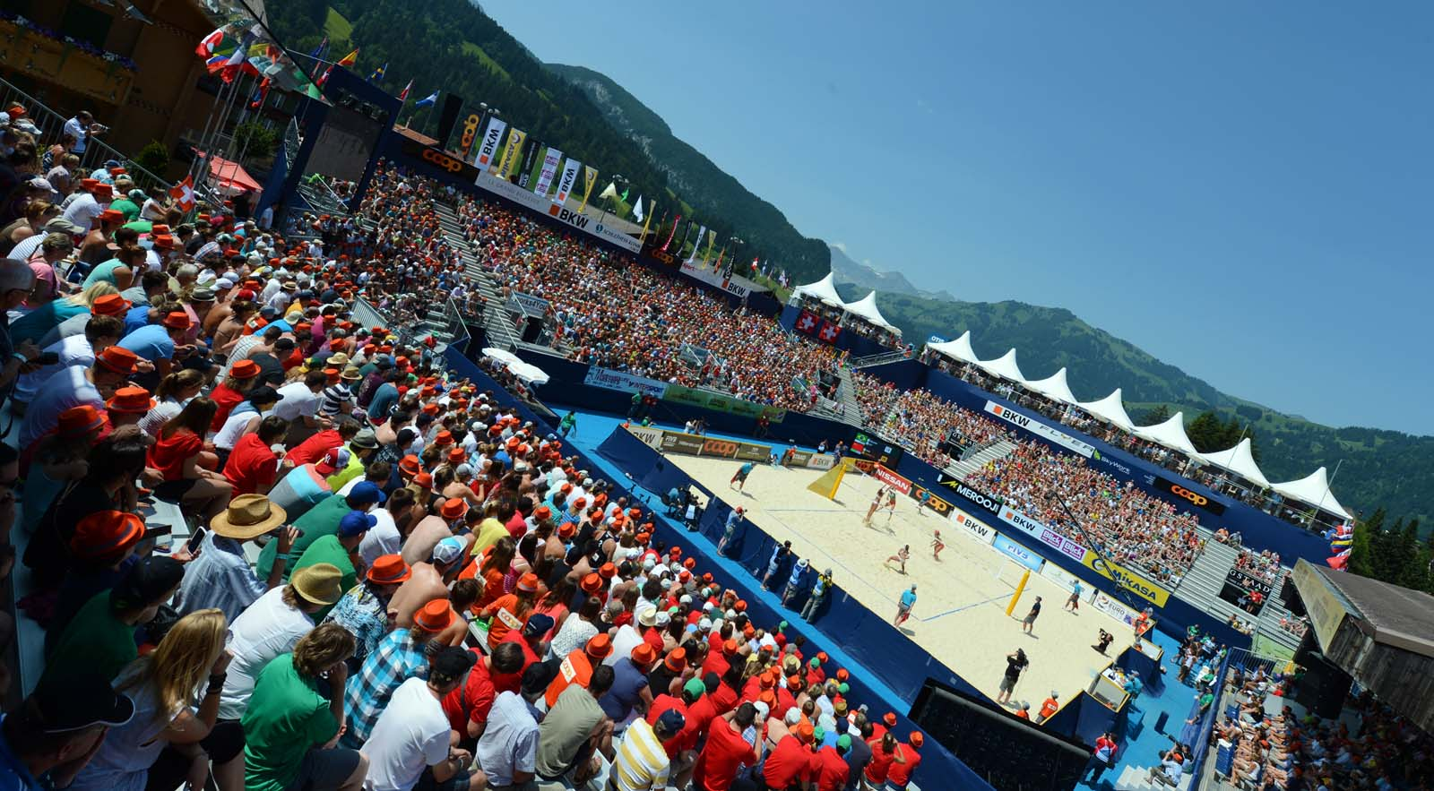 Gstaad will be one of three Major Series events in 2015 ©FIVB