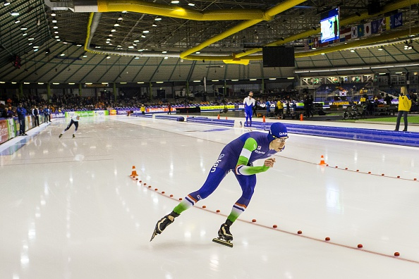 The Netherlands Jorrit Bergsma won gold in the men's 10,000m at the ISU World Single Distance Speed Skating Championships ©Getty Images