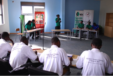 More than 100 students participated in the inaugural Uganda Olympic Values Debate Championship ©Uganda Olympic Committee