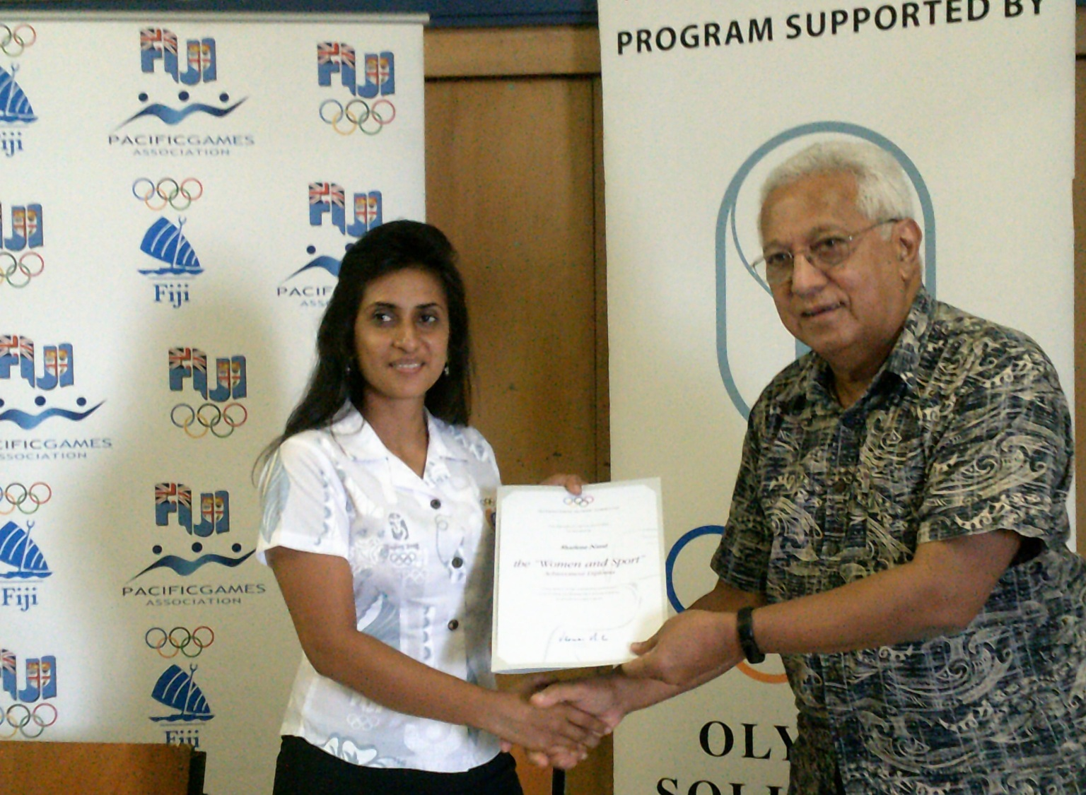 The IOC has awarded Sharlene Nand the Women in Sport Achievement Diploma ©FASANOC