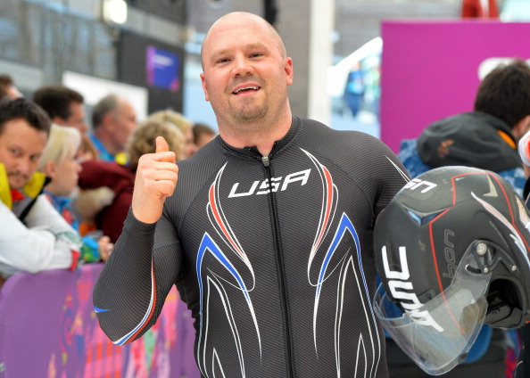 Steven Holcomb, pictured after winning bronze at the Sochi Olympics, has criticised special home training sessions ahead of the FIBT World Championships ©AFP/Getty Images