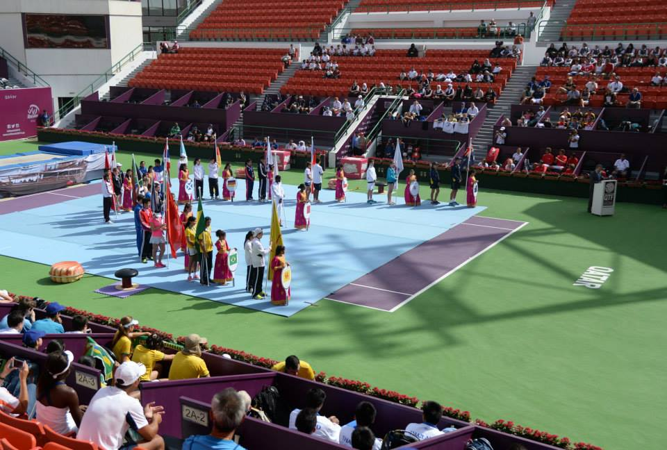 Doha hosted the ISF Tennis World Schools Championships at the prestigious Khalifa International Tennis and Squash Complex last week ©Qatar School Sport Association