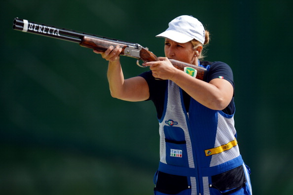 Beijing 2008 Olympic champion Chiara Cainero sealed a Rio 2016 quota place after she won a silver medal at the Shotgun World Cup in Al Ain ©Getty Images