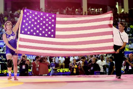 Adeline Gray (left) is set to lead the United States' charge for success at the Women's Wrestling World Cup ©UWW