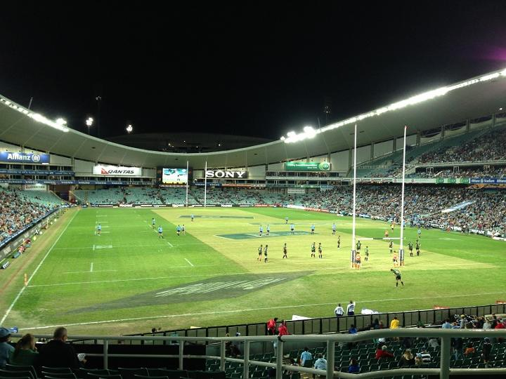 Allianz Stadium in Moore Park will host the Australian leg of the 2015-2016 HSBC World Rugby Sevens Series ©Getty Images