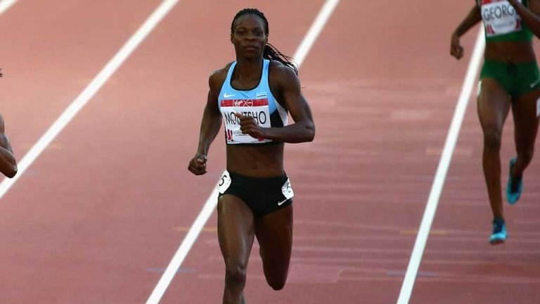 Botswana's Amantle Montsho has been banned for two years following a positive drugs test at Glasgow 2014 ©Getty Images