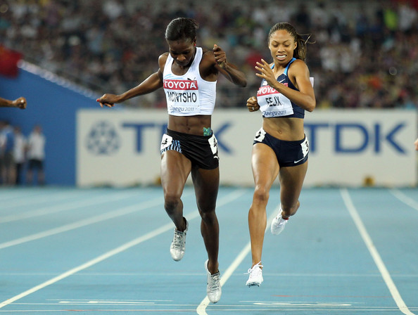 Amantle Montsho became a national heroine in Botswana when she won the gold medal in the 400 metres at the 2011 World Championships in Daegu  ©Getty Images