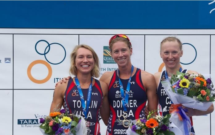 American Kaitlin Donner claimed her first ITU World Cup gold medal as she finished ahead of teammate Renee Tomlin in New Zealand ©ITU