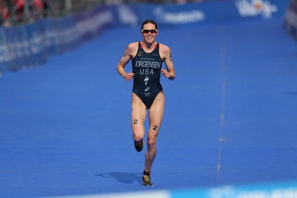 American world champion Gwen Jorgensen currently leads the way in the women's Columbia Threadneedle Rankings, with Britain's Jonathan Brownlee ahead in the men's ©Getty Images