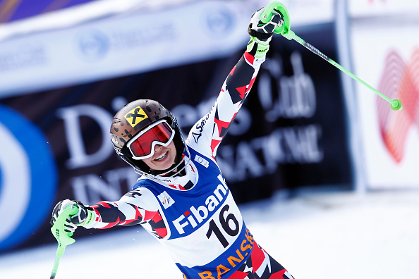 Anna Fenninger took combined gold in Bulgaria ©AFP/Getty Images
