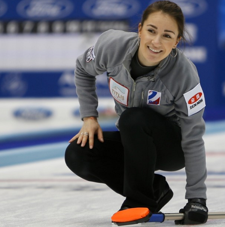 Anna Sidorova led Russia to two victories on the second day of action in Sapporo ©World Curling Federation