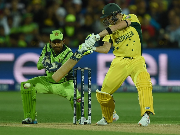 Australia batsman Steve Smith helped his side recover from a difficult start with a composed 65 as the co-hosts reached their target with 16.1 overs to spare ©Getty Images