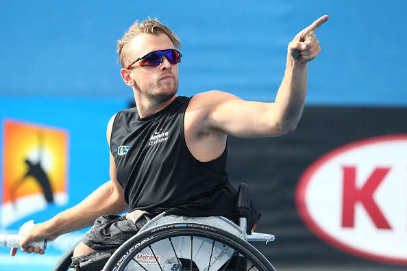 Australian Dylan Alcott set up a last four meeting with David Wagner following a straight-sets win over Jamie Burdekin ©Getty Images