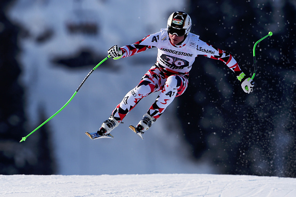 Austrias Hannes Reichelt took victory in the men's downhill in Norway ©Agence Zoom/Getty Images