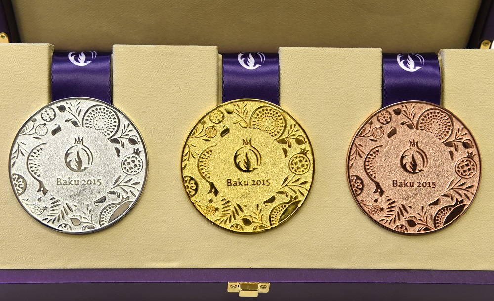 The medals for the first-ever European Games in Baku were unveiled today ©Baku 2015
