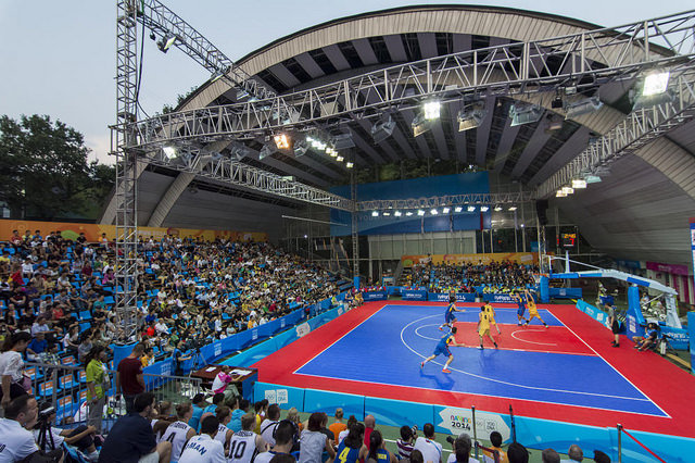 Basketball 3x3 proved to be very popular at the 2014 Summer Youth Olympic Games in Nanjing ©IOC