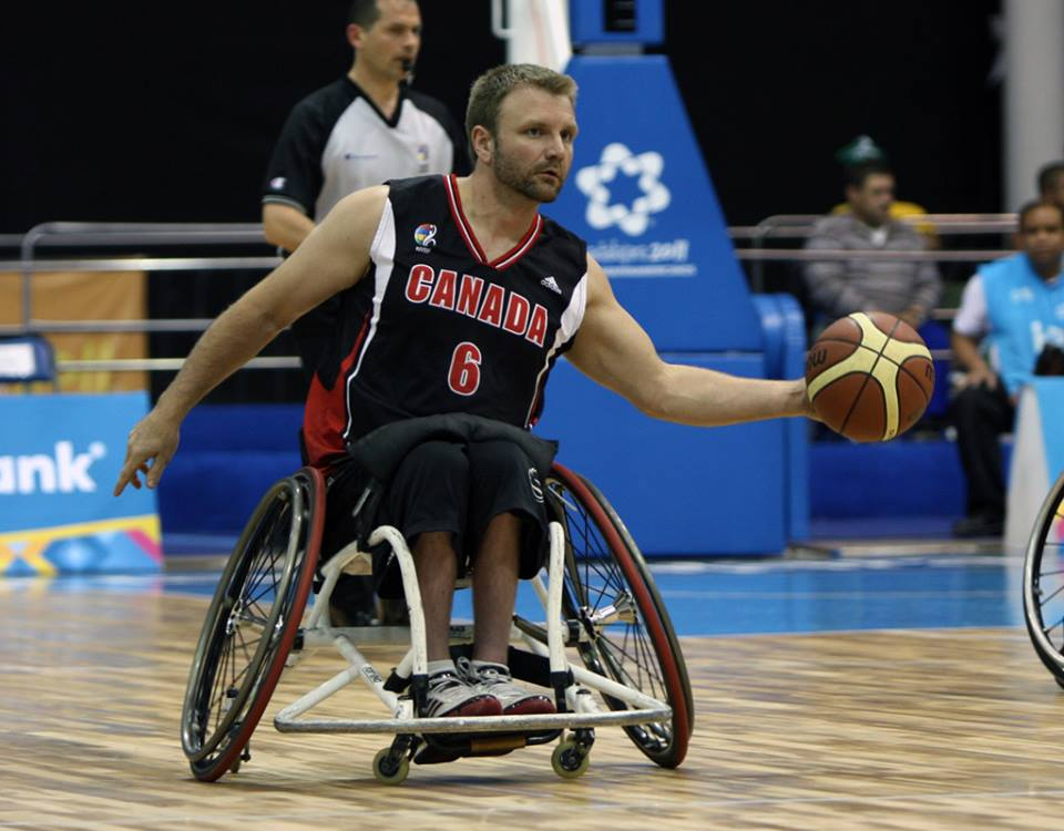 Bo Hedges secured 13 points in Canada's 56-45 win against Argentina ©Wheelchair Basketball Canada