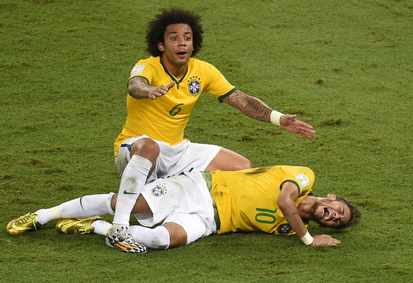 Brazil and Barcelona star Neymar suffered a back injury at the 2014 FIFA World Cup ©AFP/Getty Images