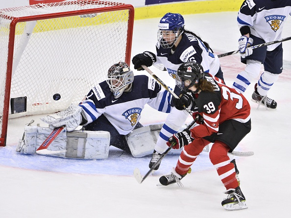 Canada sealed their semi-final spot in IIHF Women's World Championships as they cruised to a 6-2 win over Finland in the Malmö Isstadion ©Getty Images