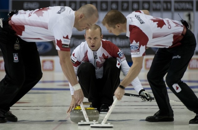 Canada continued their dominant start to the Ford World Mens Curling Championship with another two wins on day three ©WCF