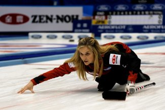 Canada skipper Jennifer Jones led by example once again as her side picked up two wins on day three ©World Curling Federation