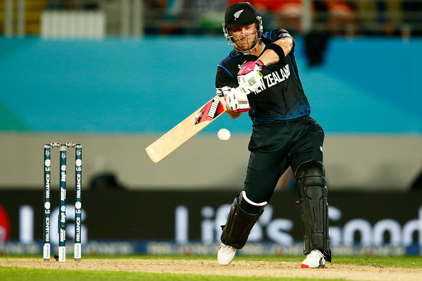 Captain Brendon McCullum hit a brutal 59 to help his side reach their revised target of 298 in a dramatic rain-affected contest in Auckland ©Getty Images