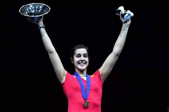 Spain's Carolina Marin continued her rapid rise up the echelons of the sport with victory in Birmingham ©AFP/Getty Images