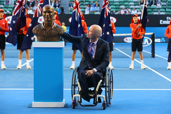 David Hall was also inducted into the Australian Tennis Hall of Fame in January ©Getty Images
