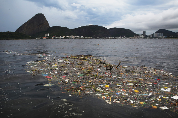 Debris in Guanabara Bay has been a major problem in recent weeks and progress remains limited ©Getty Images