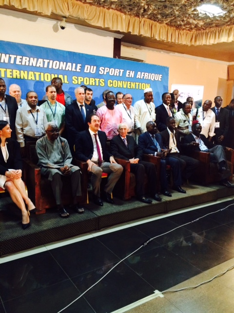 Diack was the key speaker at the CISA Convention which finished in Kigali today ©ITG