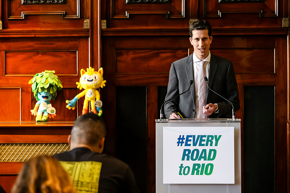 UK Sport director of major events and international relations Simon Morton outlined the events due to be staged in Britain over the coming 18 months here today ©Getty Images