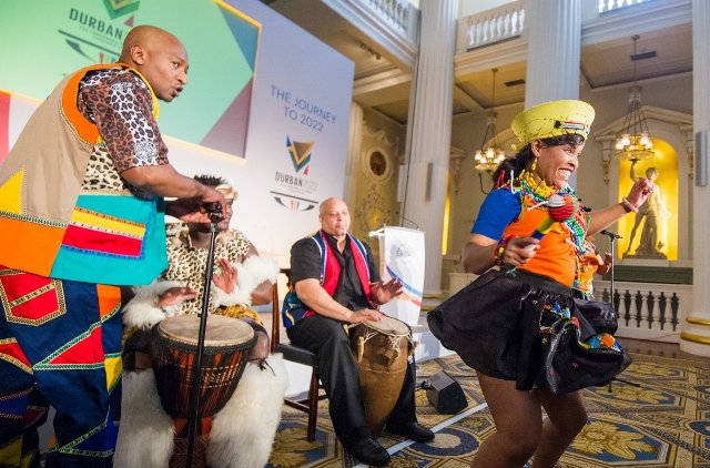There was plenty of colour as Durban launched their bid for the 2022 Commonwealth Games but a sense of drama is lacking iafter the withdrawal of Edmonton ©CGF