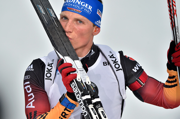 Erik Lesser secured gold in the 12.5km pursuit in Finland ©Getty Images