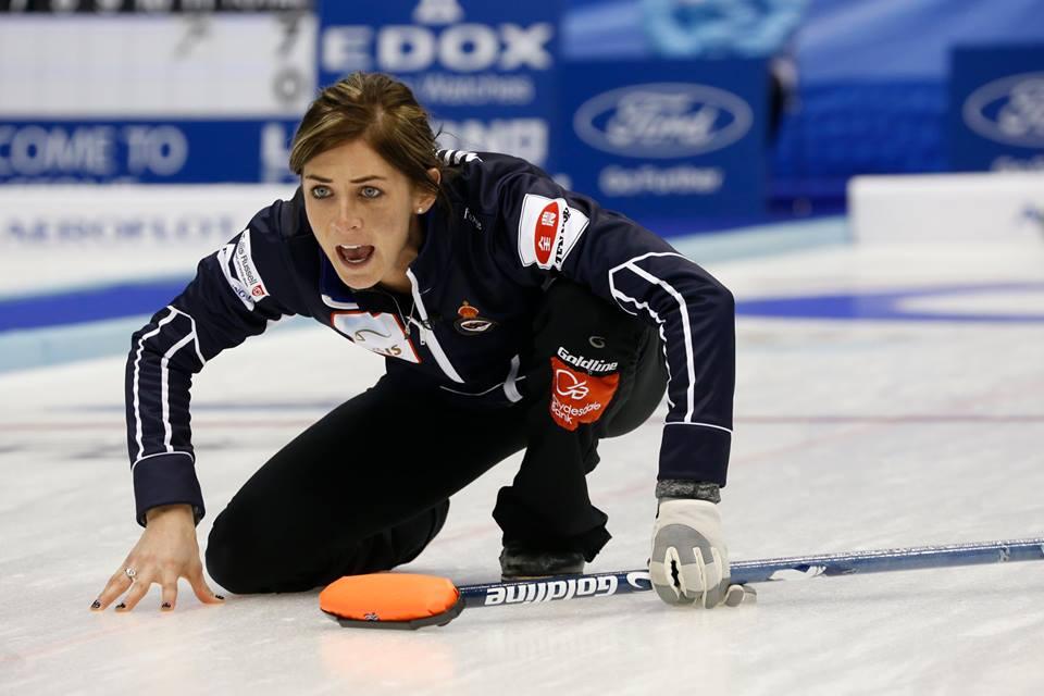 Eve Muirhead kept Scotland's medal hunt alive after victory over Sweden ©World Curling Federation/Richard Gray