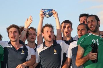 France won the men's event in Cape Town thanks to Gaspard Baumgarten's hat-trick in a 5-2 win over China ©FIH