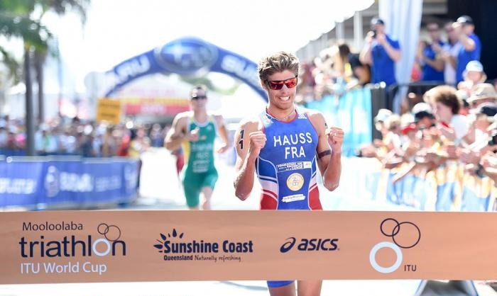 France's David Hauss took victory in the men's event in Mooloolaba ©ITU