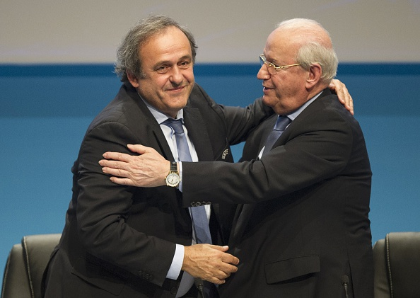 Frenchman Michel Platini has been re-elected unopposed as UEFA President ©Getty Images