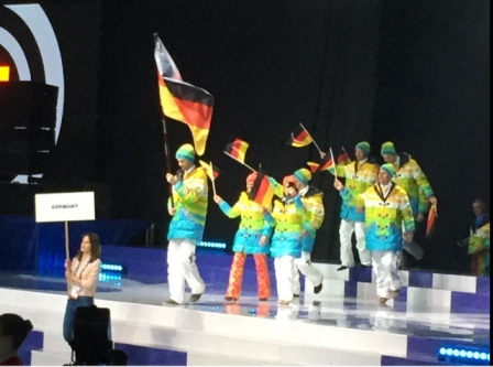 Germany were among the countries to take part in today's Opening Ceremony of the 18th Winter Deaflympics in Khanty-Mansiysk ©Twitter