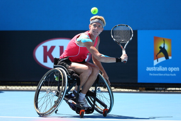Germany's Sabine Ellerbrock beat defending champion Marjolein Buis of The Netherlands to win the women's singles title ©Getty Images