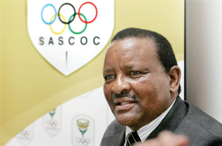 SASCOC President Gideon Sam has set the South African team for the Rio Olympic Games a target of 10 medals ©SASCOC