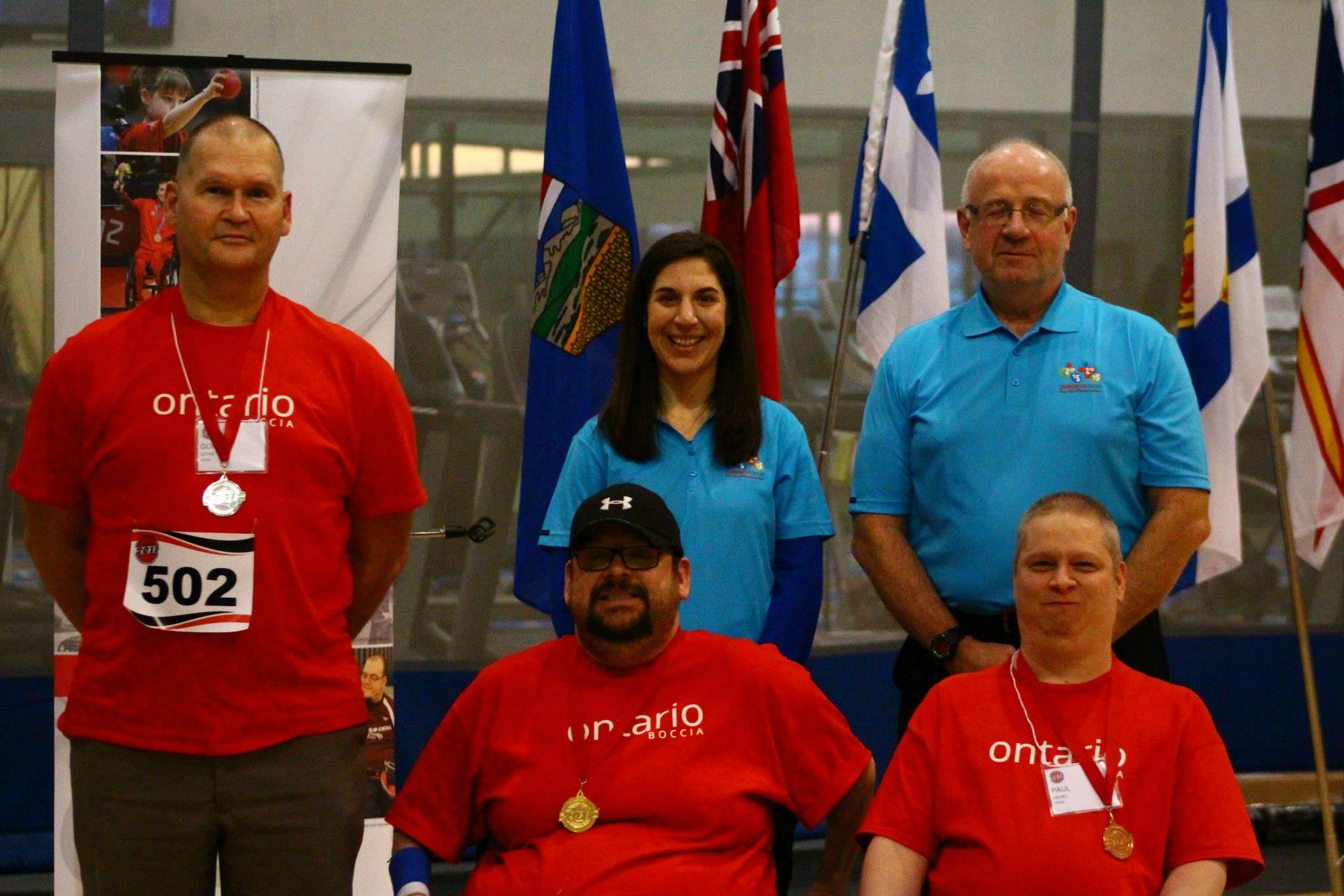 Gio Desero (front row, centre) claimed the gold medal in the open competition ©Canadian Cerebral Palsy Sports Association/Facebook