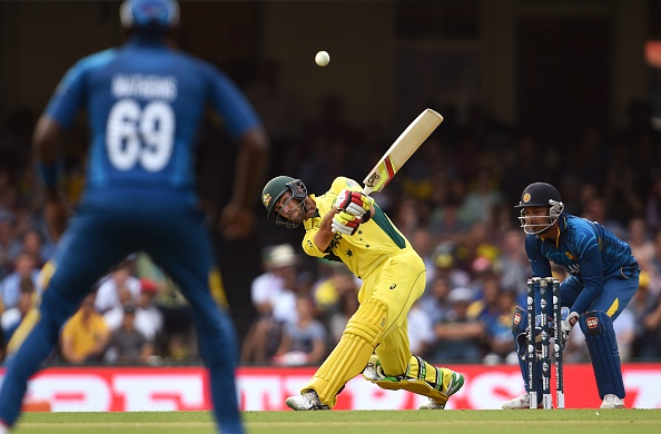 Glenn Maxwell was on devastating form as Australia beat Sri Lanka to confirm their quarter-final place ©AFP/Getty Images