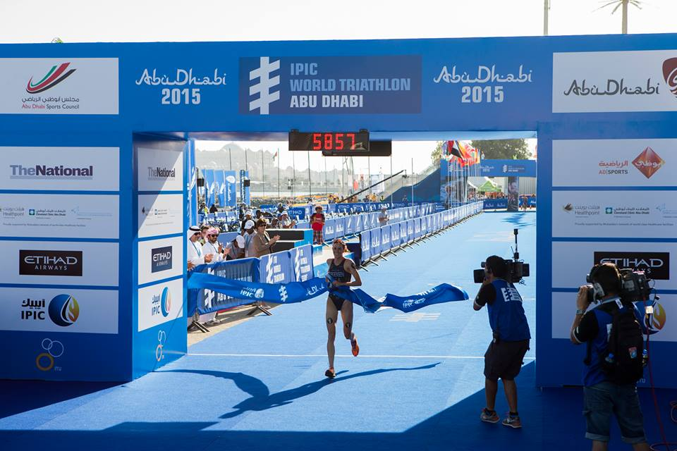 Gwen Jorgensen continued as she left off in 2014 with a comfortable victory in Abu Dhabi ©ITU