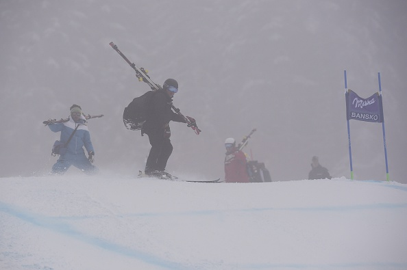 Heavy fog in Bansko forced the cancellation of two races ©AFP/Getty Images