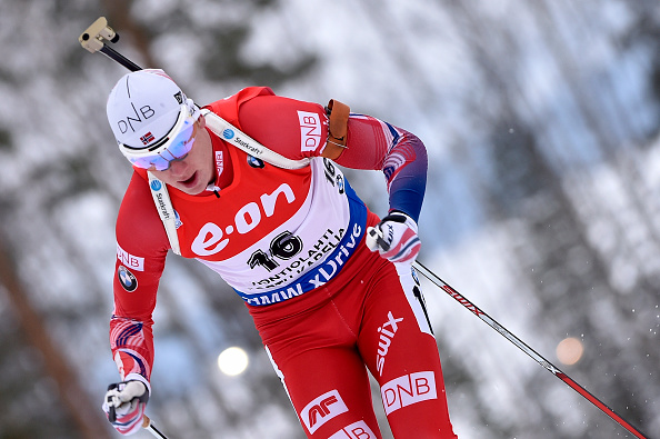 Johannes Thingnes Boe en route to biathlon sprint gold on the Finnish course ©Getty Images