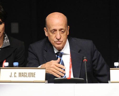 Julio Maglione is set to continue as FINA President until he is 85 under proposed rule changes ©Getty Images