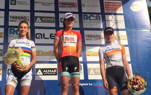 Last year's World Cup winner Armitstead claimed victory at the Trofeo Alfredo Binda ©Twitter