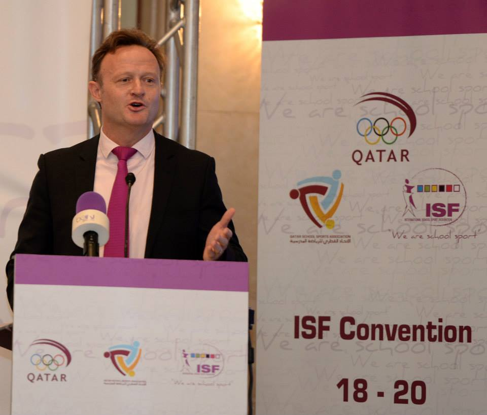 Laurent Petrynka, President of the International School and Sport Federation, says the development of school sport is high on the IOC's agenda ©Qatar School Sport Association